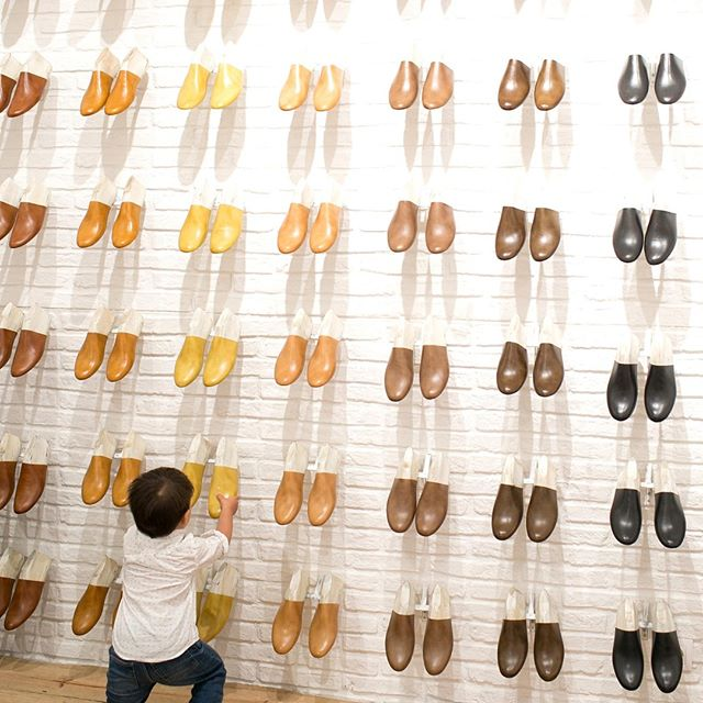 """""""One, two, three, four, five, six... again!"""" I love watching him explore the world (or in this case, a shoe store). #barnabymaxwell #travelwithML #spain"""