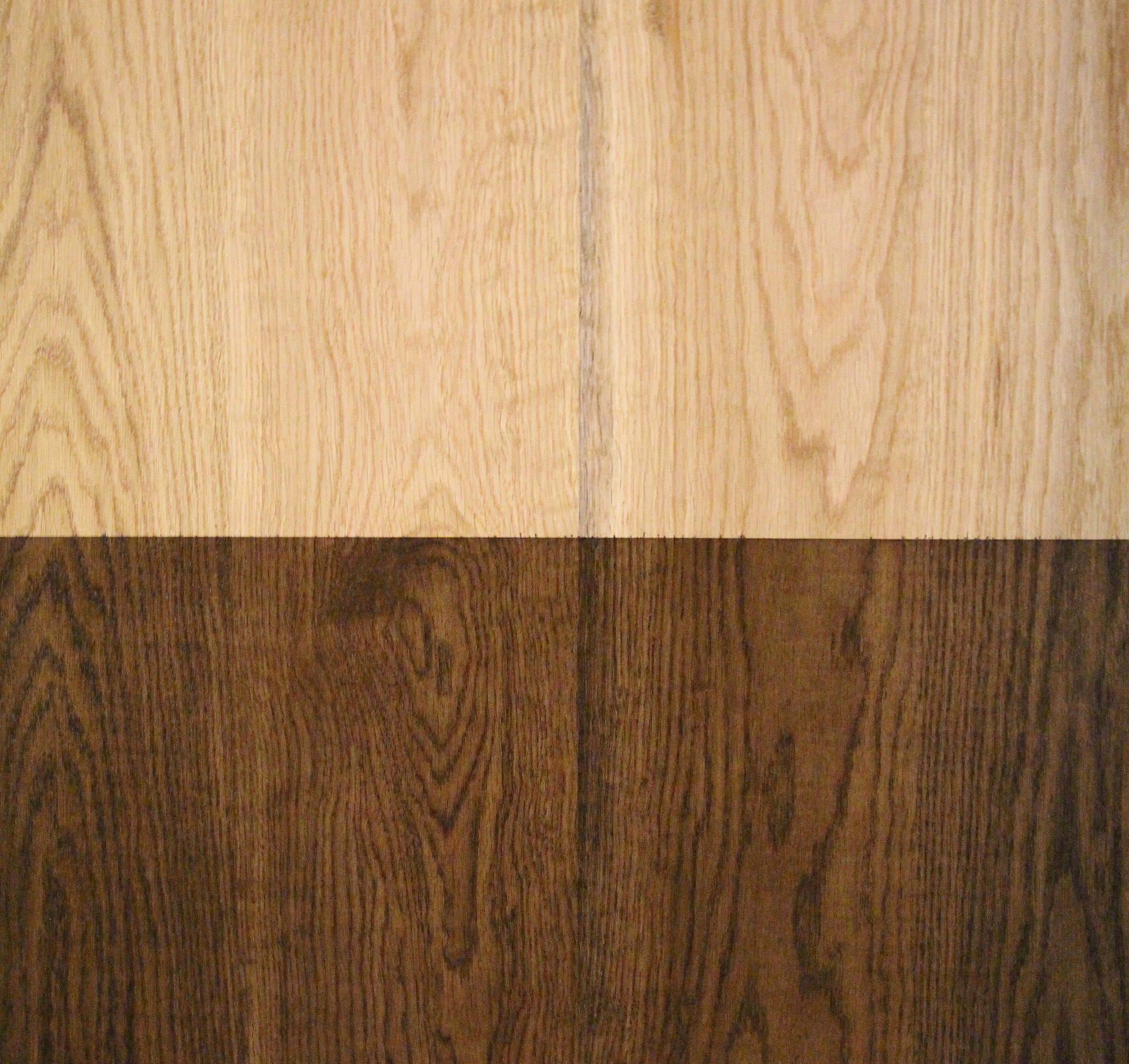 SUSTAINABLY HARVESTED OAK        NATURAL / WALNUT STAIN