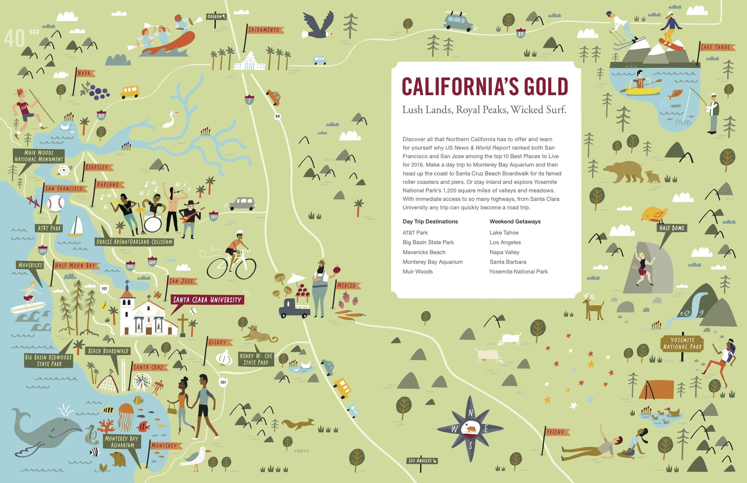 Santa Clara University - Map location: San Francisco Bay Area, CA