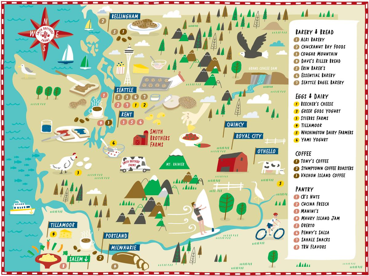 Smith Brothers Farms - Map location: Washington