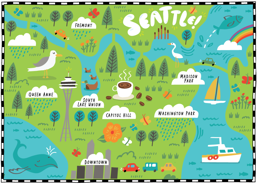 The Wall Street Journal - Map location: Seattle, WA