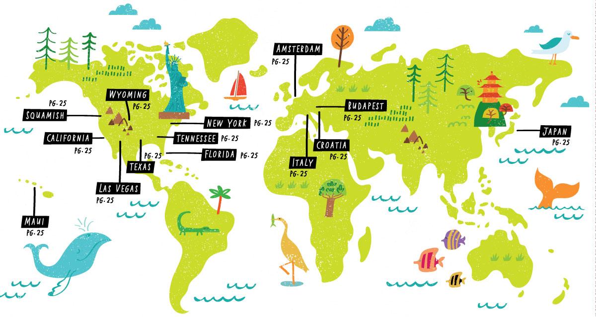 AAA Journeys - Map location: the world