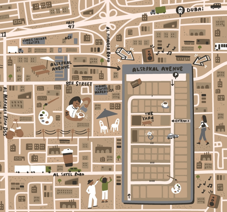 Askeral Avenue - Map location: Dubai, United Arab Emirates