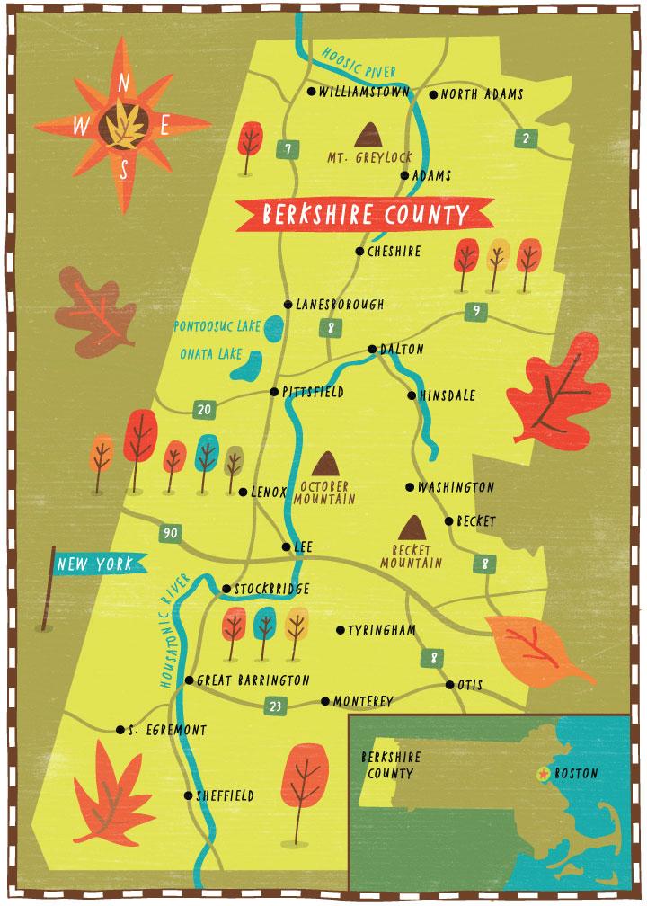 Yankee Magazine - Map location: Berkshire County, MA