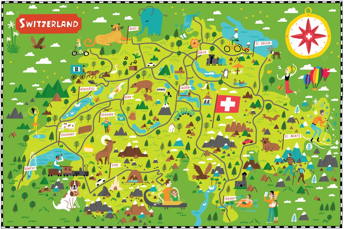 Citroën - Map location: Switzerland