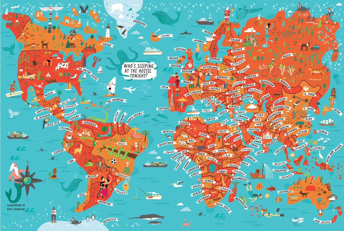 NY Loft Hostel - Map location: the world