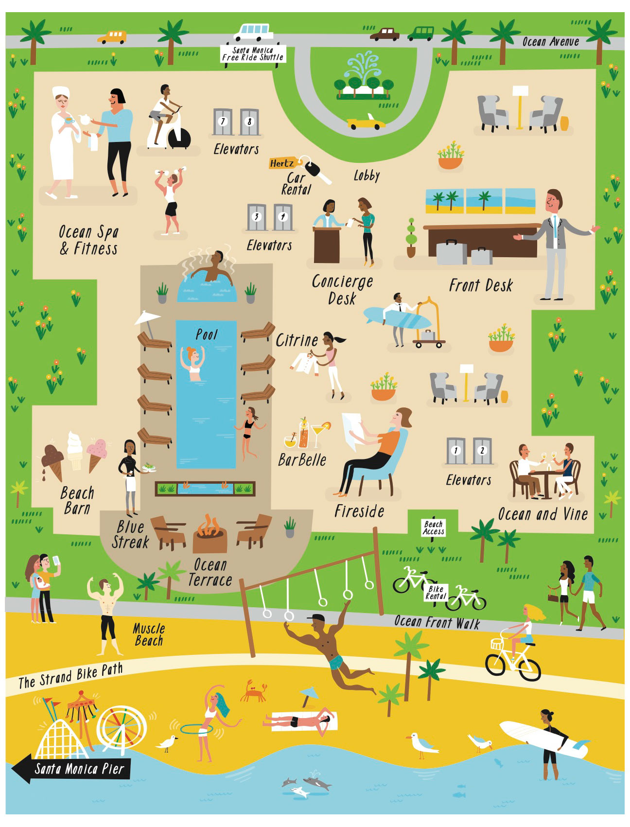 Loews Hotels - Map location: Santa Monica, CA