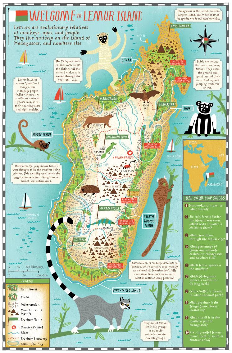 Scholastics - Map location: Madagascar