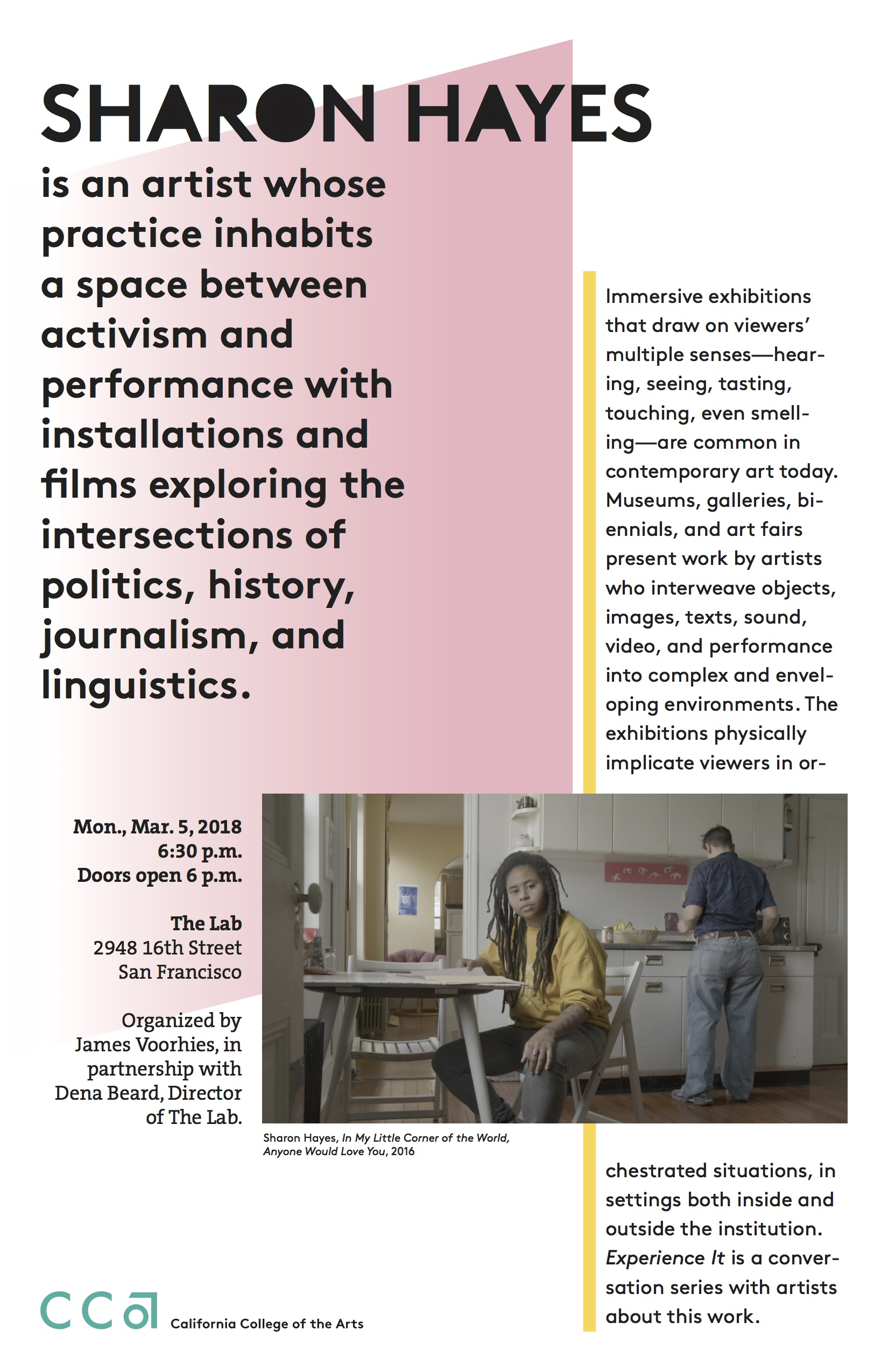 California College of the Arts - 2018, posters for Spring lecture series