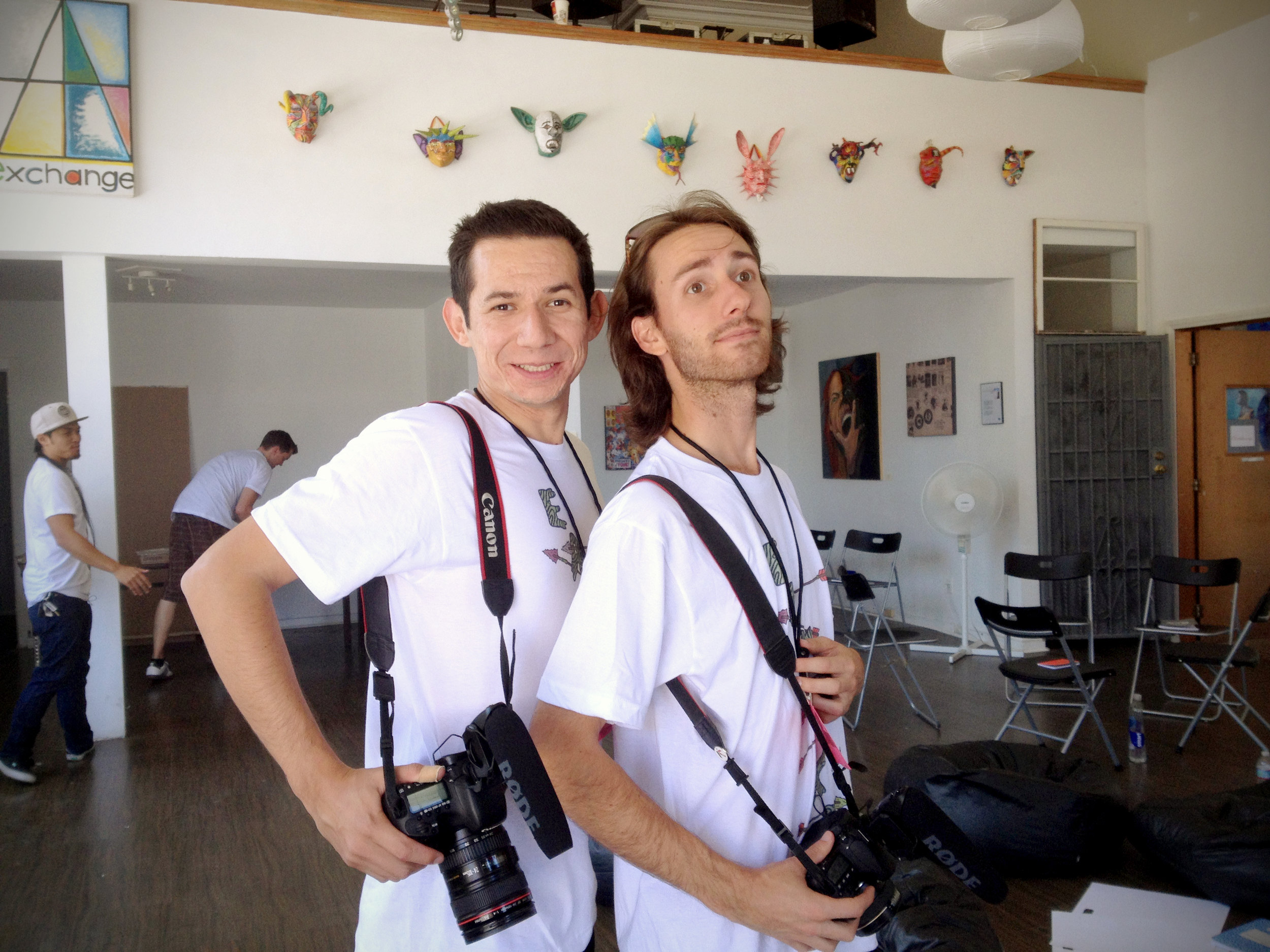 our awesome documentarians, alex and mark, capturing all the moments!