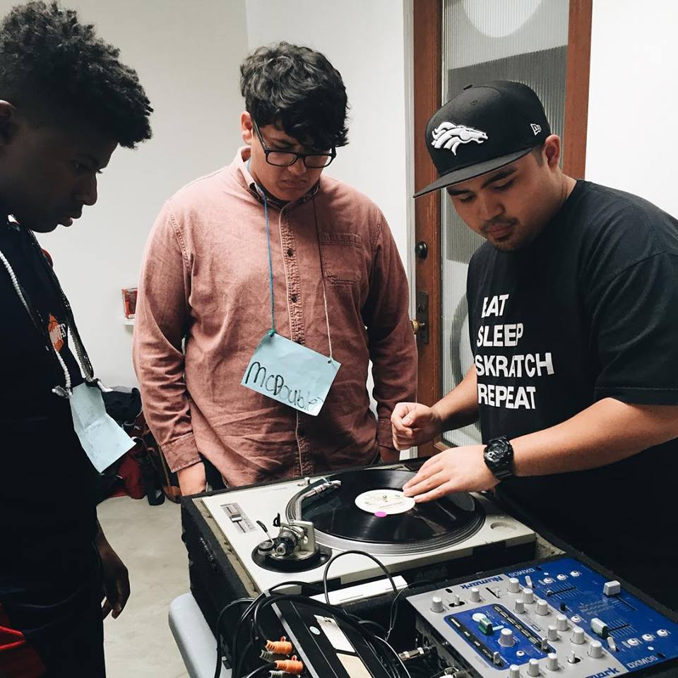 SoSoJeff from local non-profit (and one of our inspirations)Culture Shock LA sharing his craft as a DJ/turntablist.