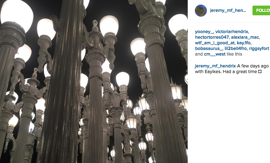 After camp, those of us who could keep hanging out ventured into the city!We caused a friendly little ruckus at LACMA singing and climbing the light poles, continued connecting over some pizza & burritos, and caught the end of a wild Packers v. Cardinals game!