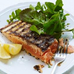 Crispy Skin Salmon + Arugula Salad