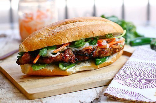 Spring 2016 Recipe Share - Grilled Chicken Bahn Mi Sando ... Class up any boring bbq.