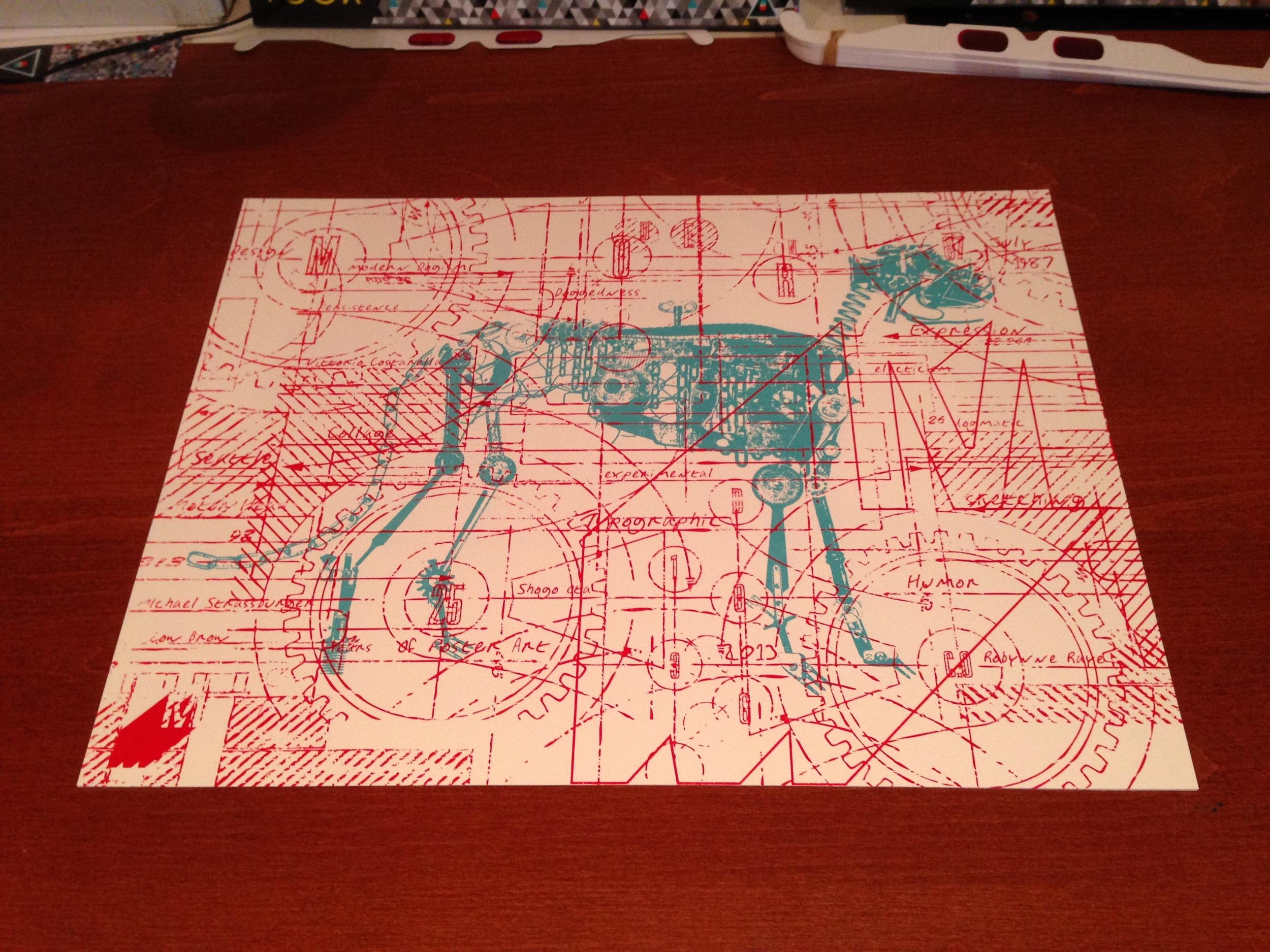 Modern Dog decoder poster.