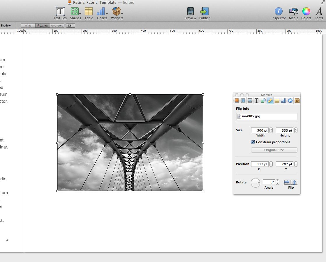 iBooks Author - Full Screen Images Step By Step — Author Ready Templates