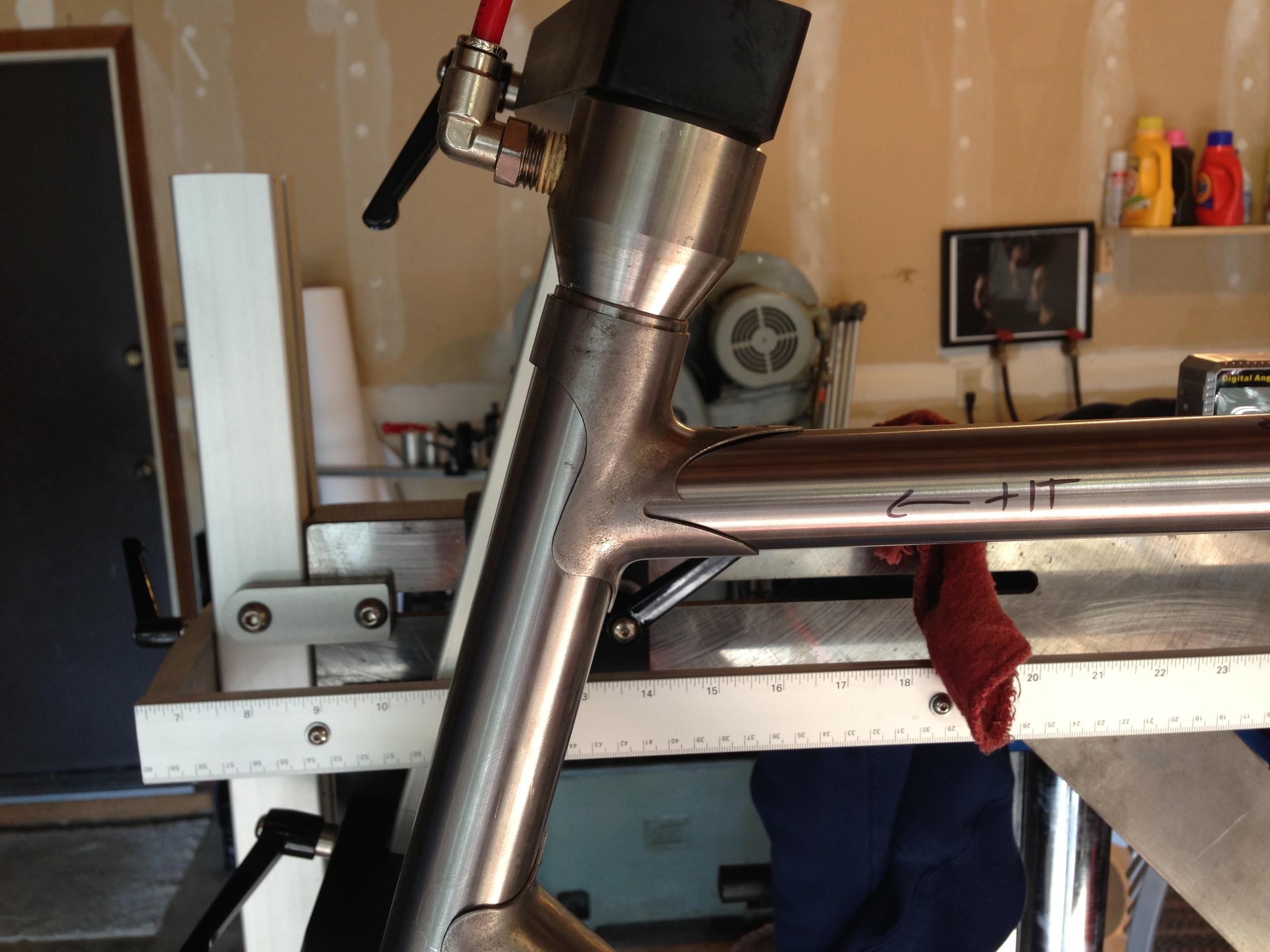 Head Tube Lug Detail