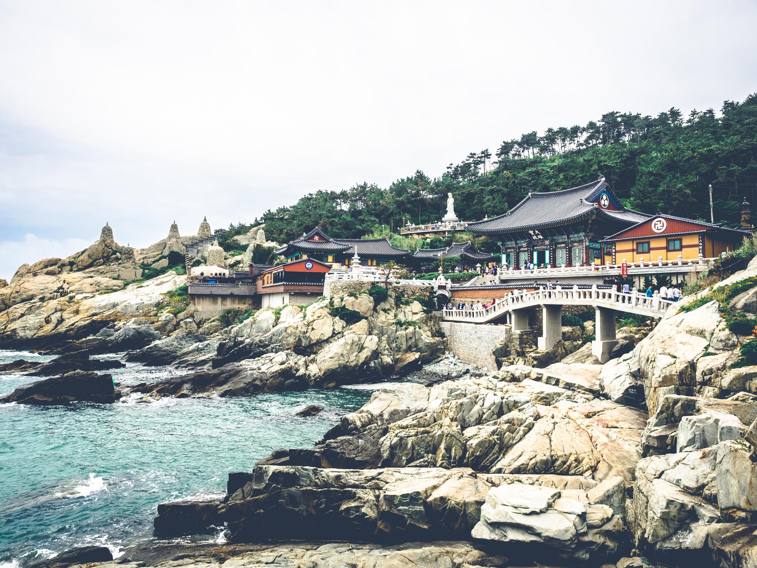 Built on the rocky shore of the salty sea in Busan, South Korea