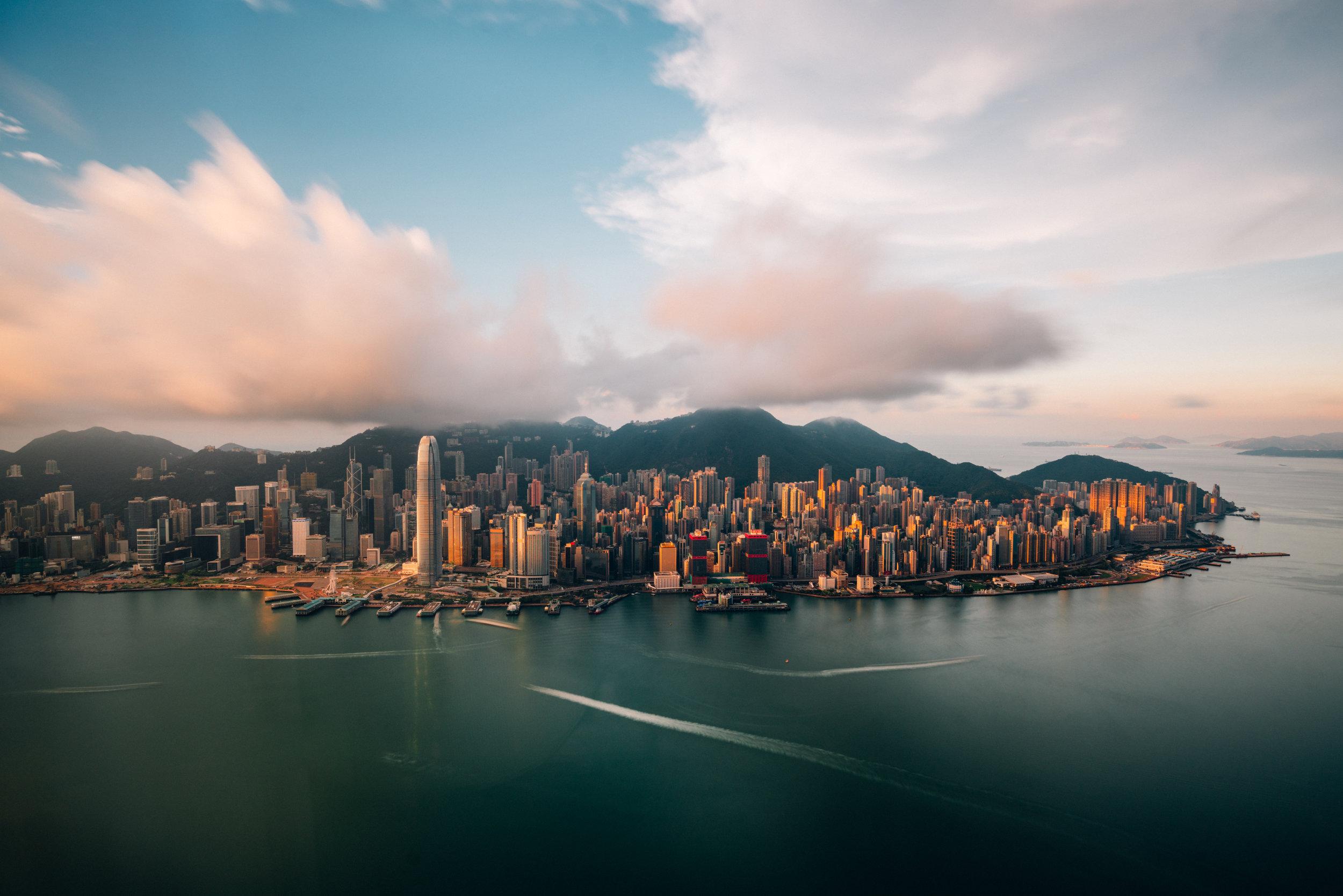 Sunrise Over Hong Kong Island