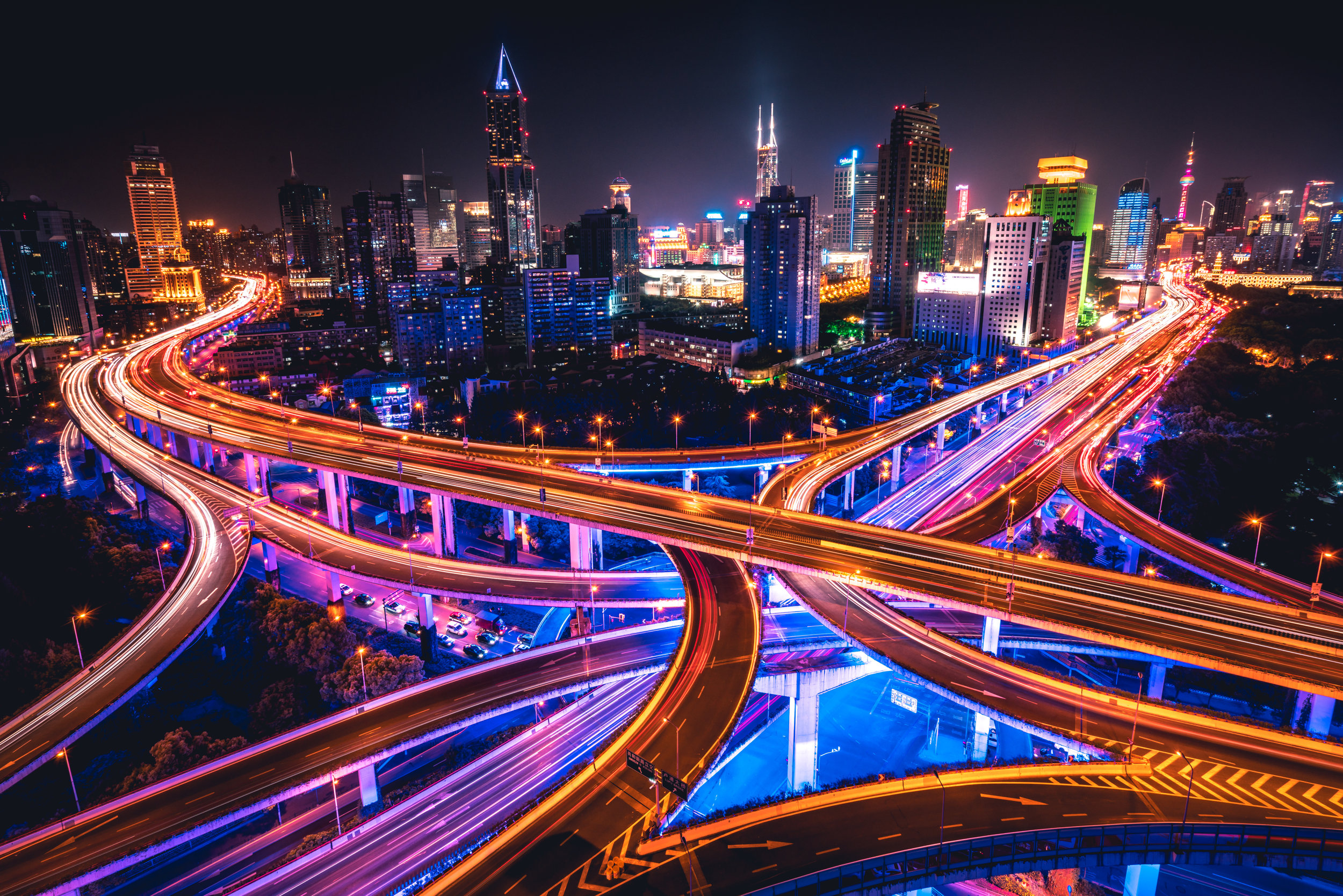 Shanghai - Shanghai is another place I travel to a lot for work. It's one of my favorite places to take night shots because the city comes alive in neon colors when the sun goes down.