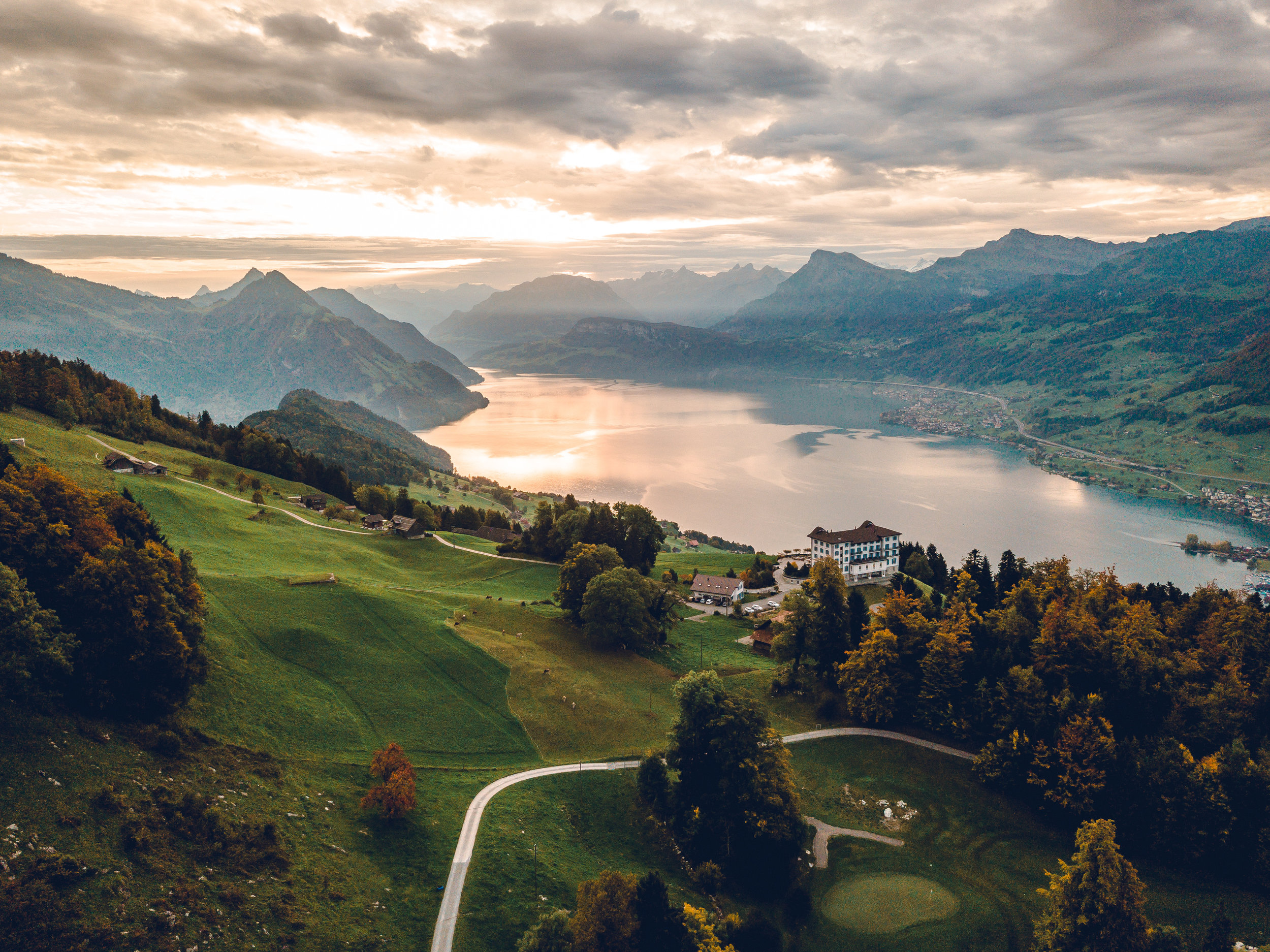 Switzerland - The European alps are my favorite place in the world, and Switzerland might just be my country surrounding them. I love the mountains, people, clear blue lakes, and rolling green hills.