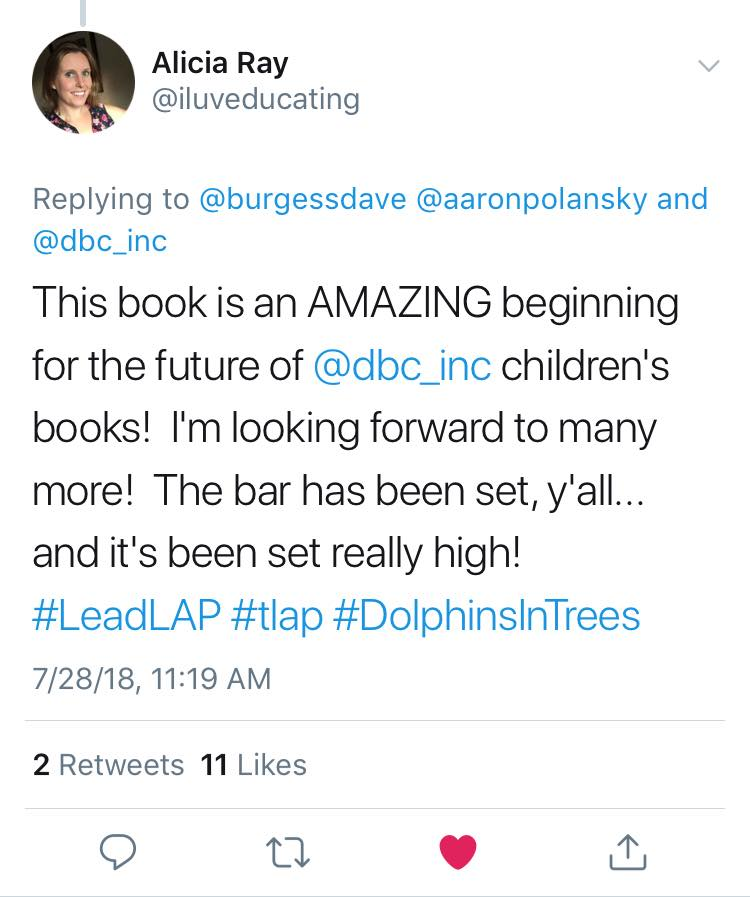 Dolphin in Trees Set the Bar Tweet.jpg