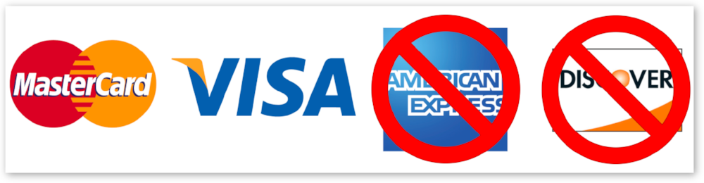 NOTE: Norwex ONLY accepts MasterCard and Visa, NOT American Express or Discover.