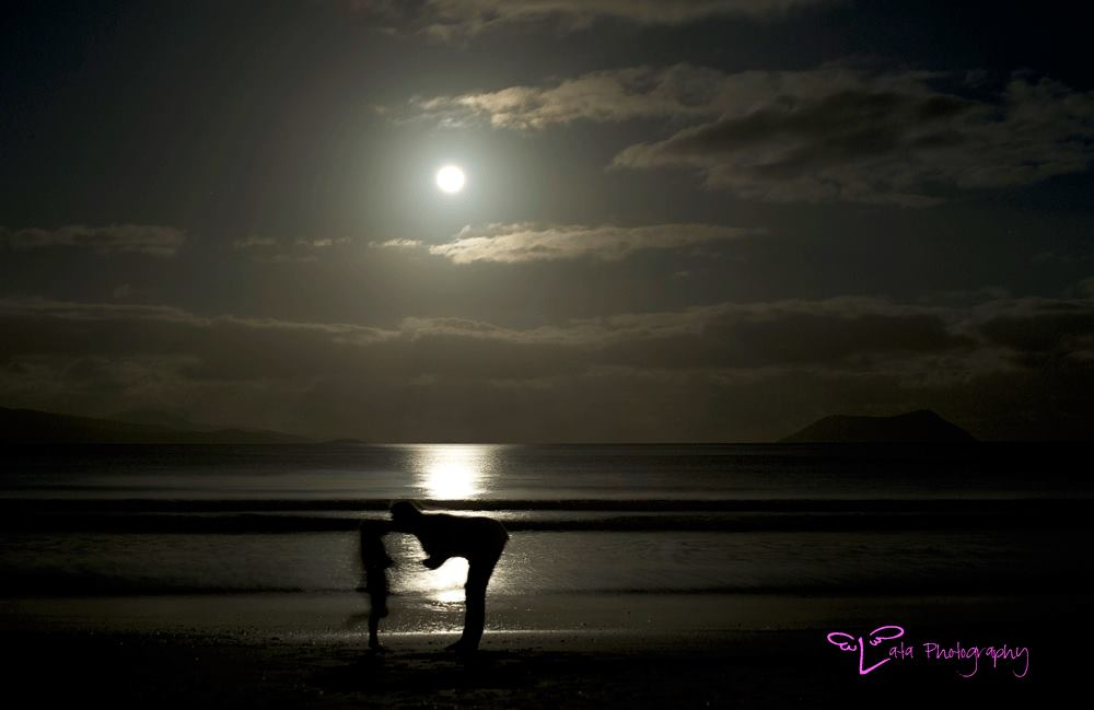 as the blue moon rose.. and the whales played... we danced under the moon with  Lata Photography