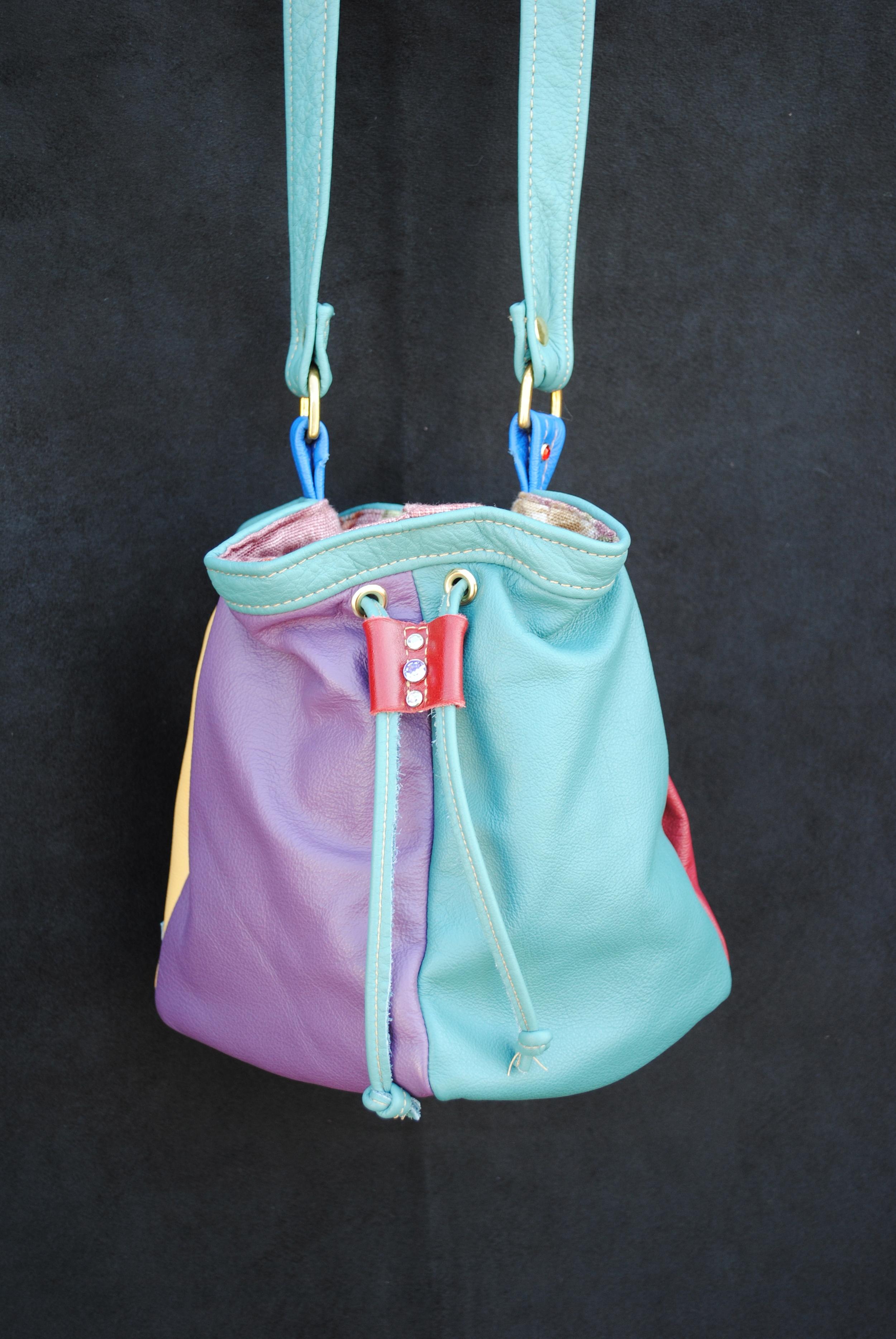 Discombobulated Rainbow Drawstring Bag