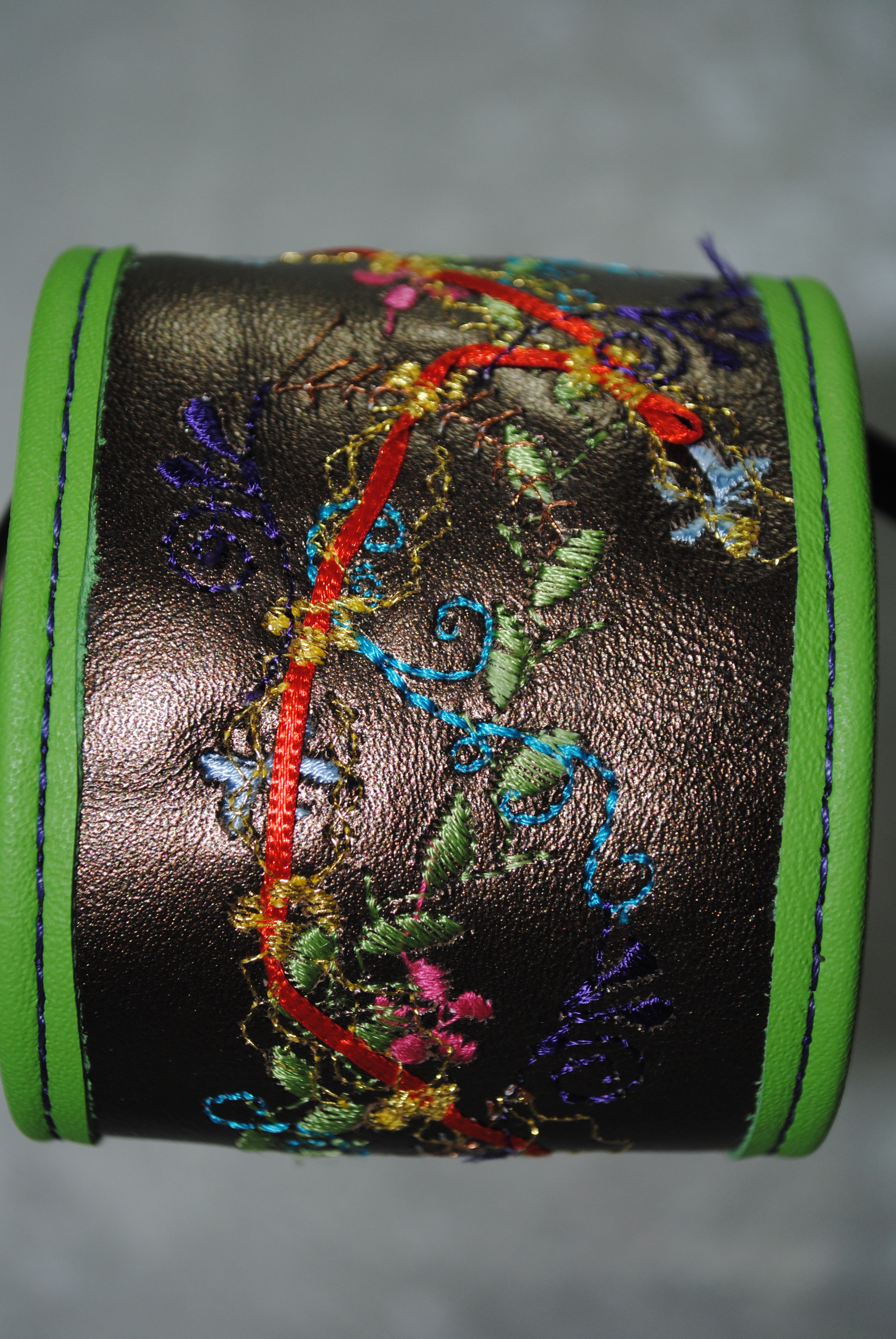 Sophisticated Garden Leather Cuff