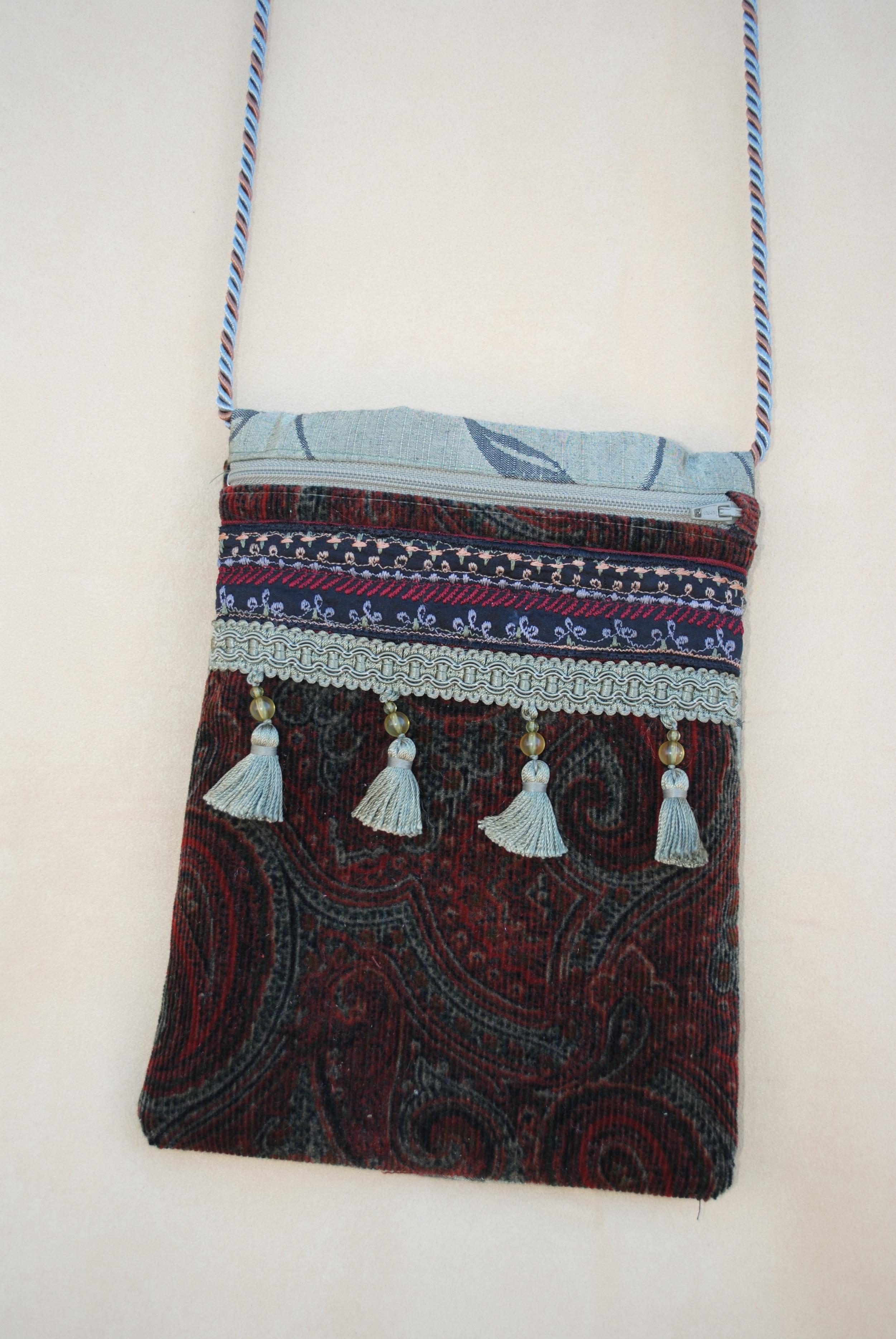 Fez Maroon Corduroy Pocket Purse