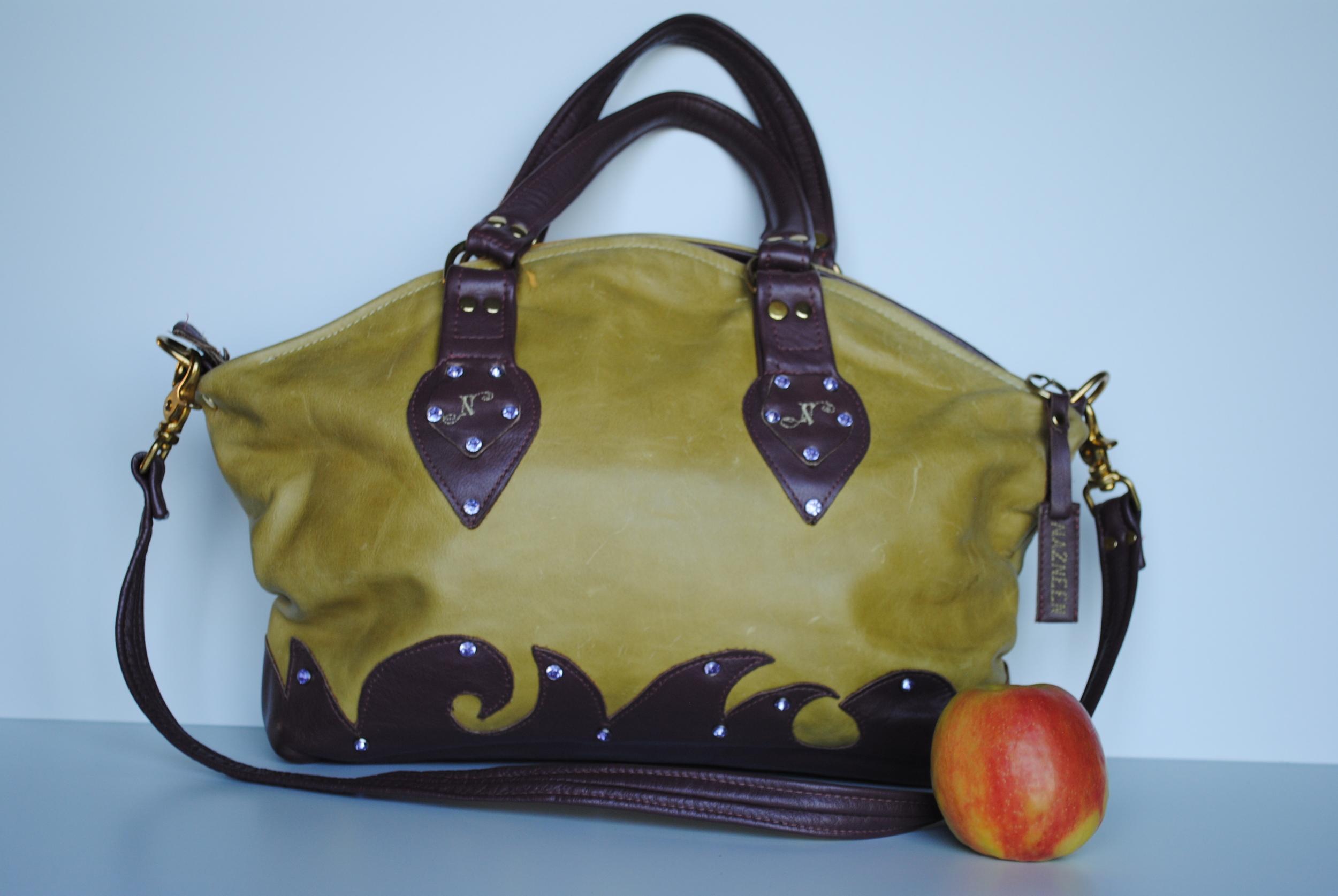 Peridot and Amethyst  Executive Bag