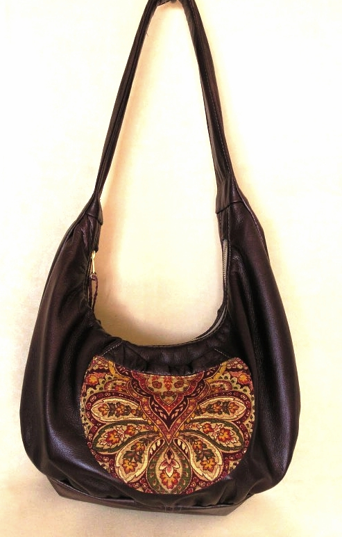 Tree of Life Hobo All leather with Applique