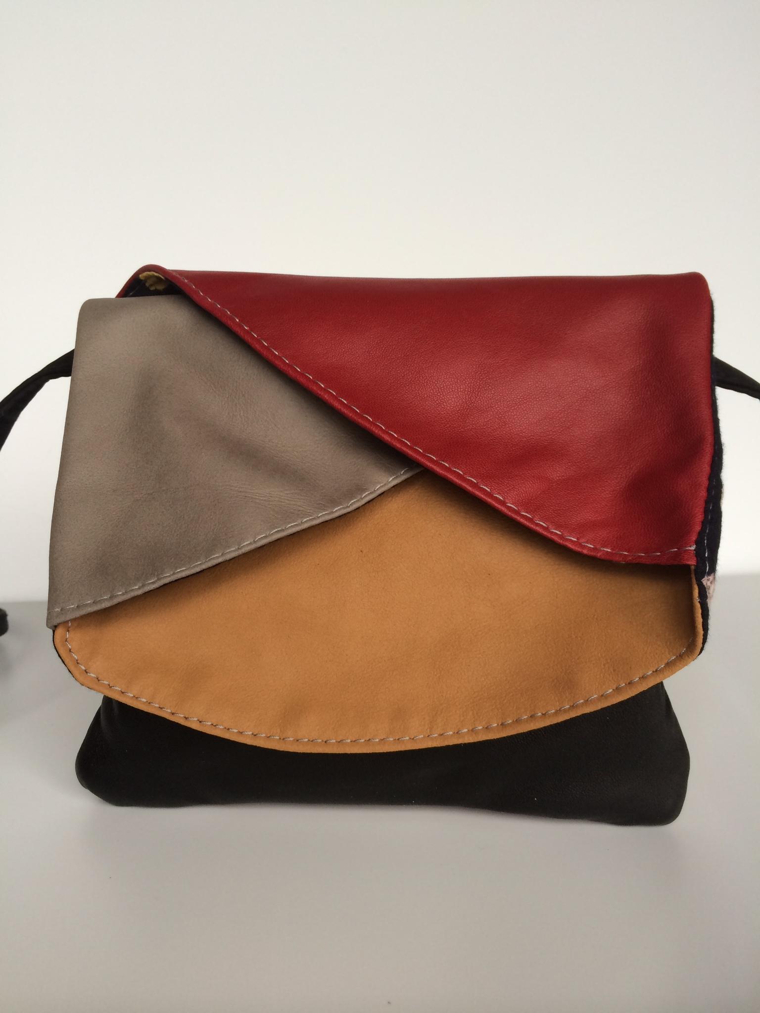 Aya Leather Four Pocket Crossbody