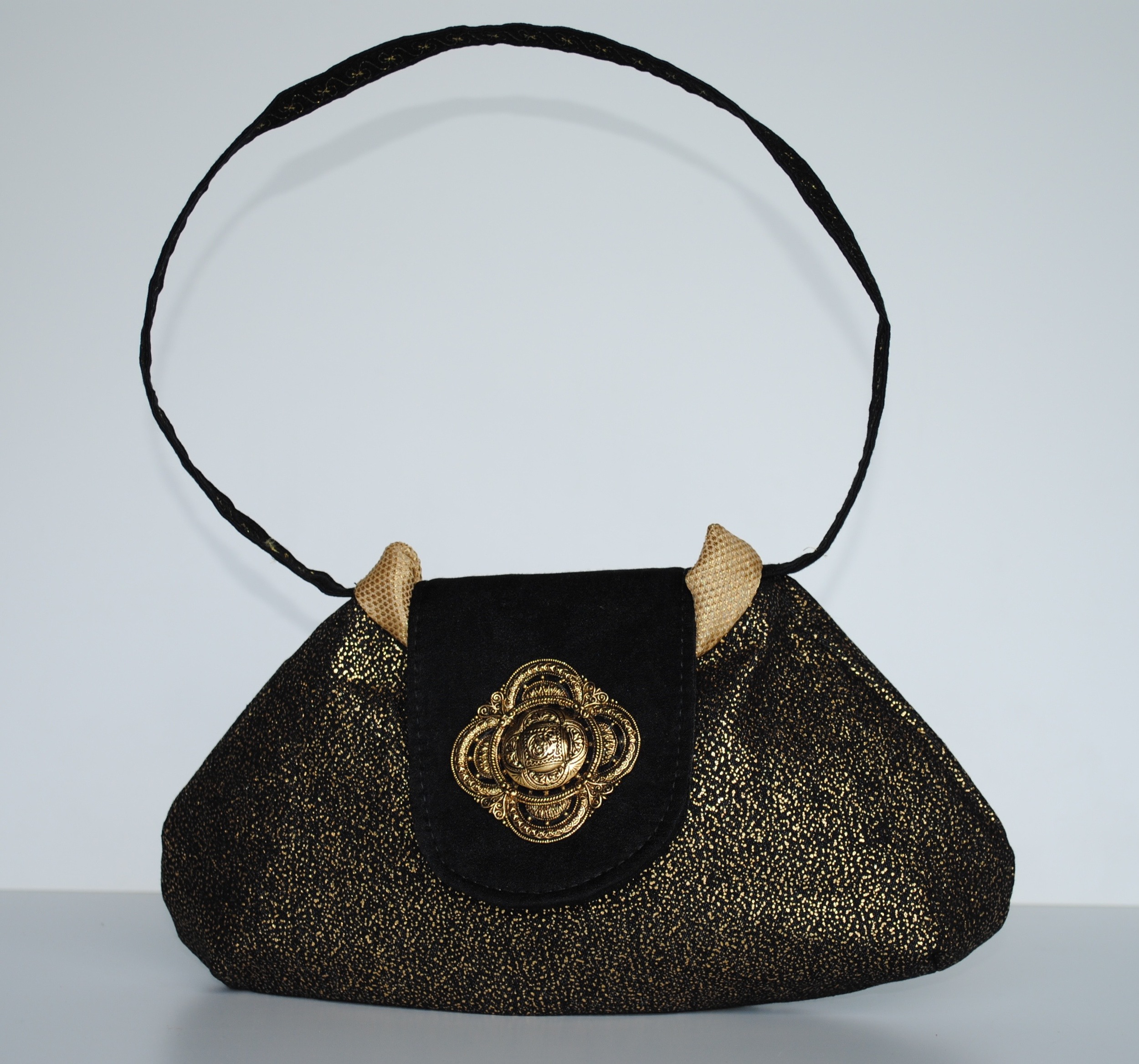 Black and Gold Evening Bag