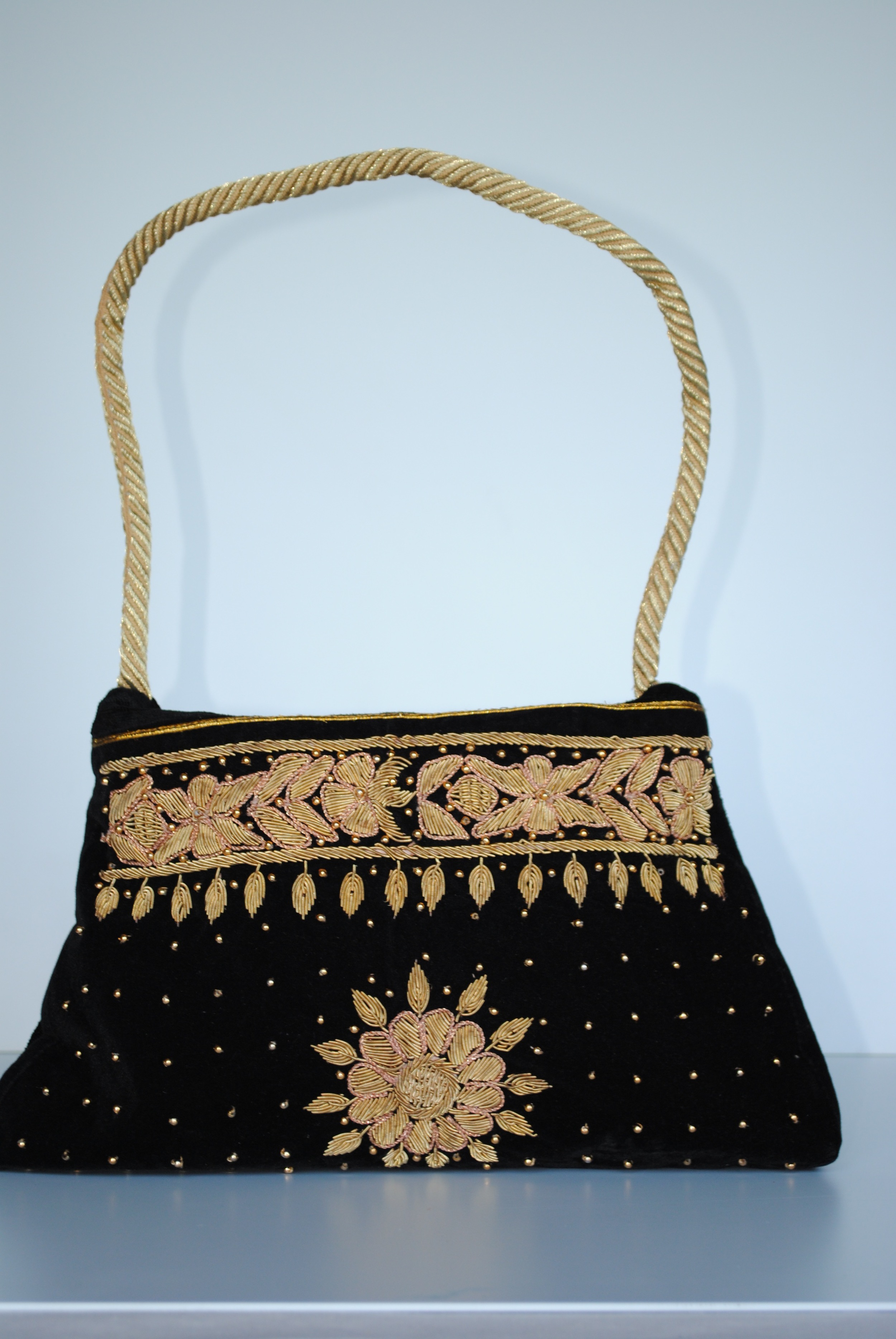 Gilded Sun Black and Gold Evening BAg