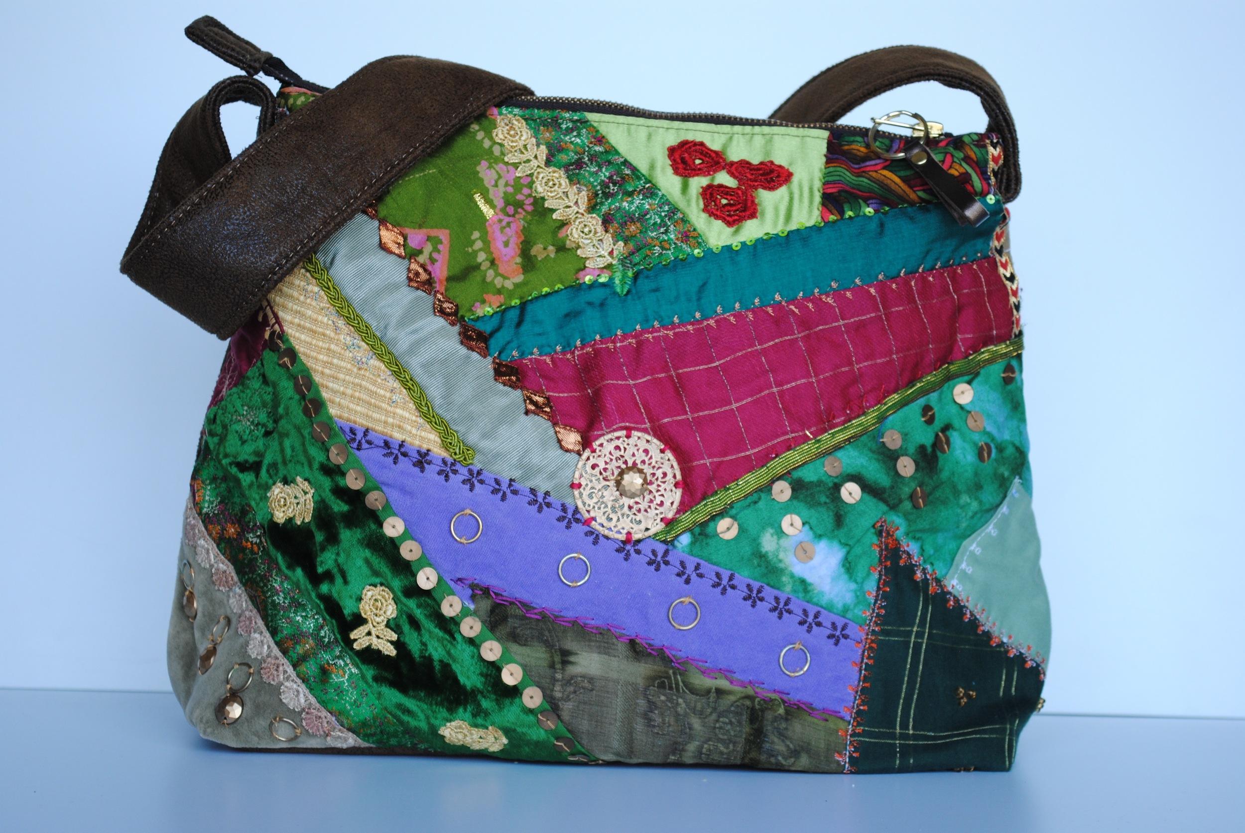 Crazy Patchwork Mid Size Bag