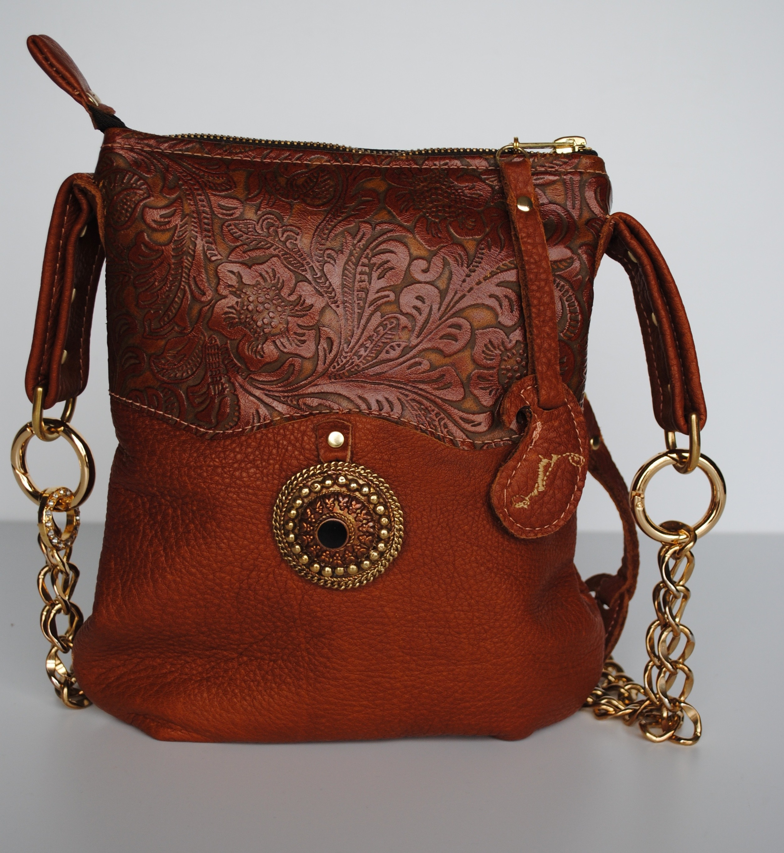Ellora Embossed Leather Small Pocket