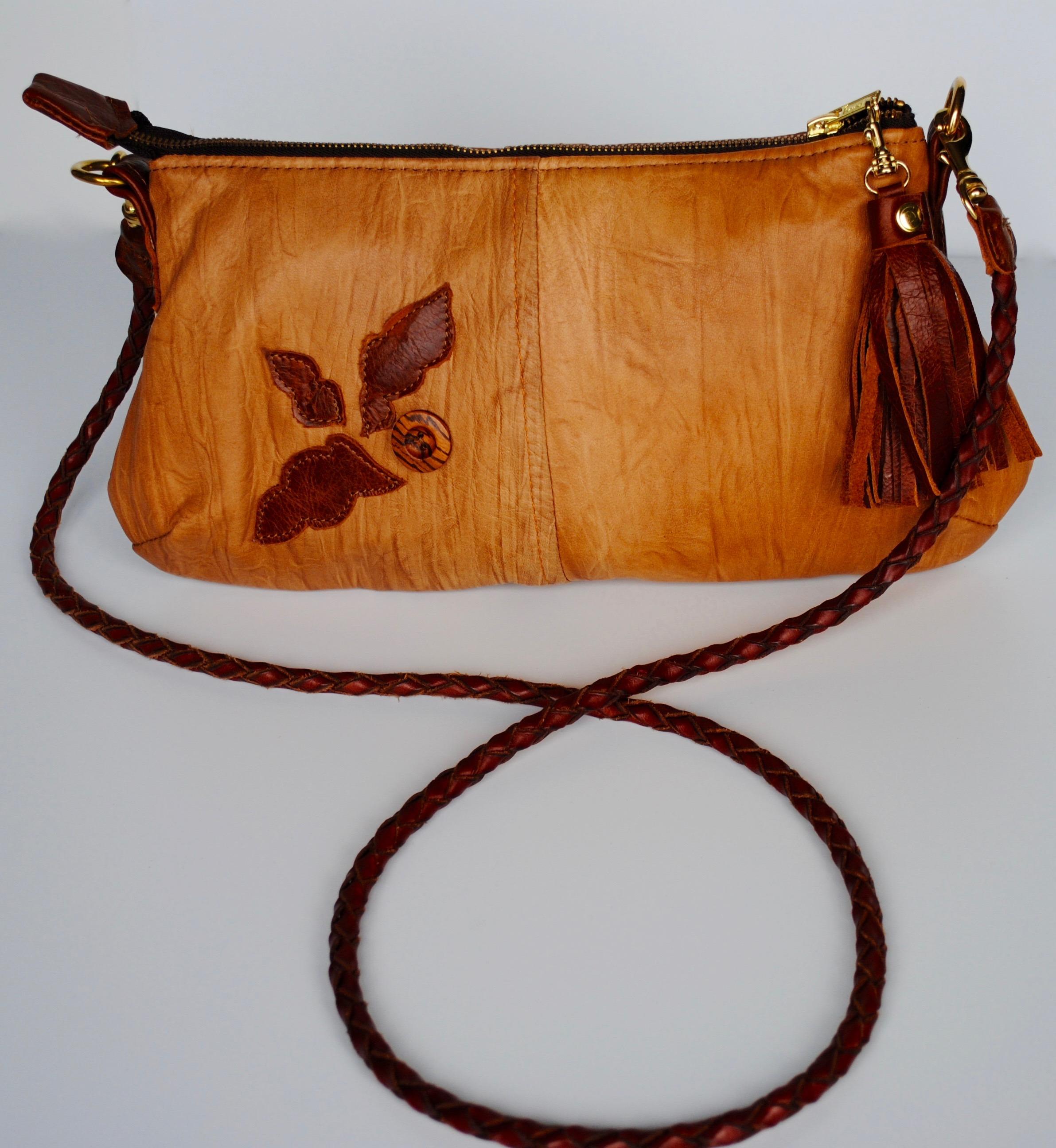 Oak Leaf Leather Purse