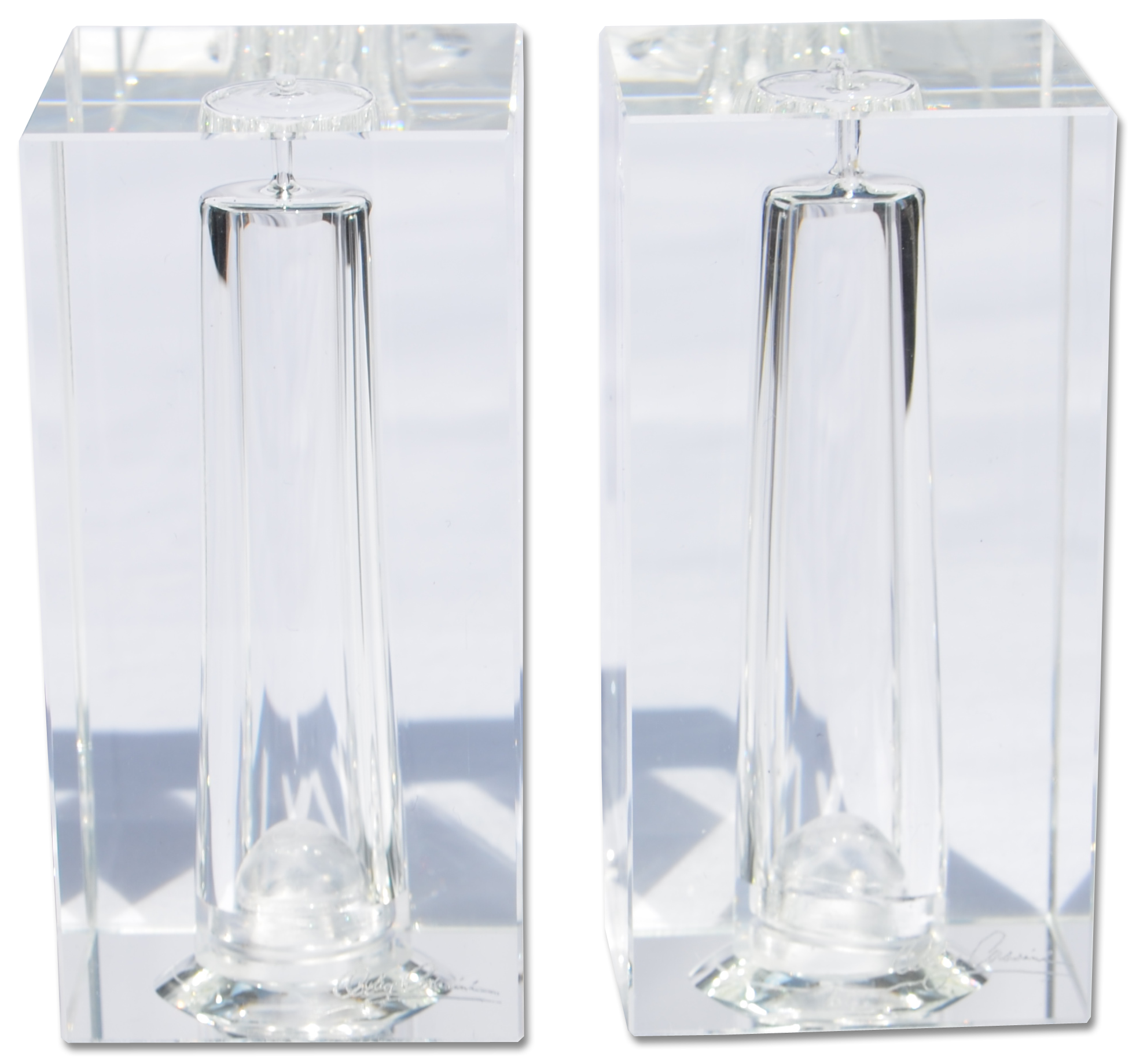 OLEG CASSINI FINE CRYSTAL SALT & PEPPER