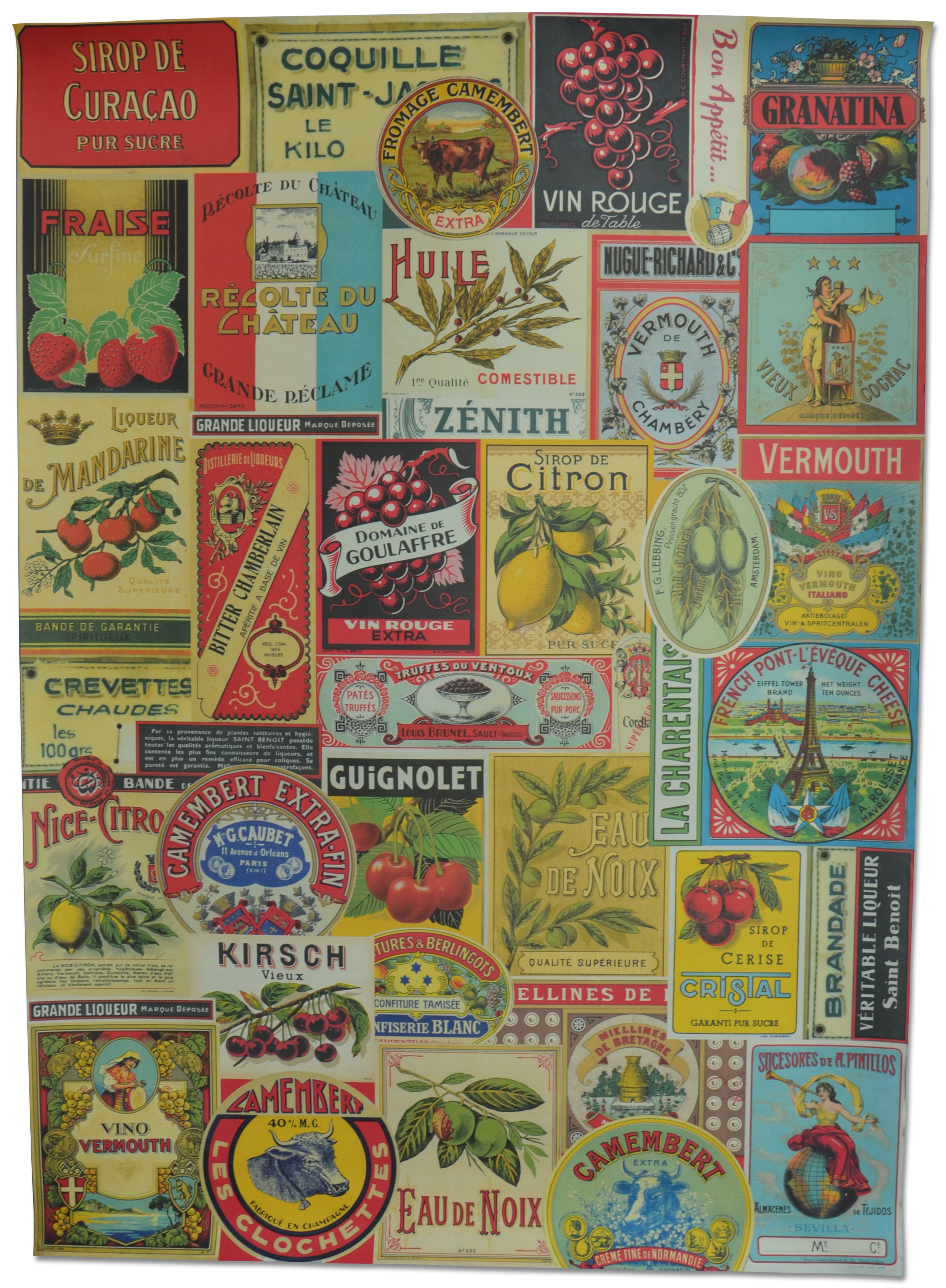 French Food Products & Labels