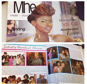 MHE spread on the Industry Standard Fashion Show featuring Sincerely Fearless.