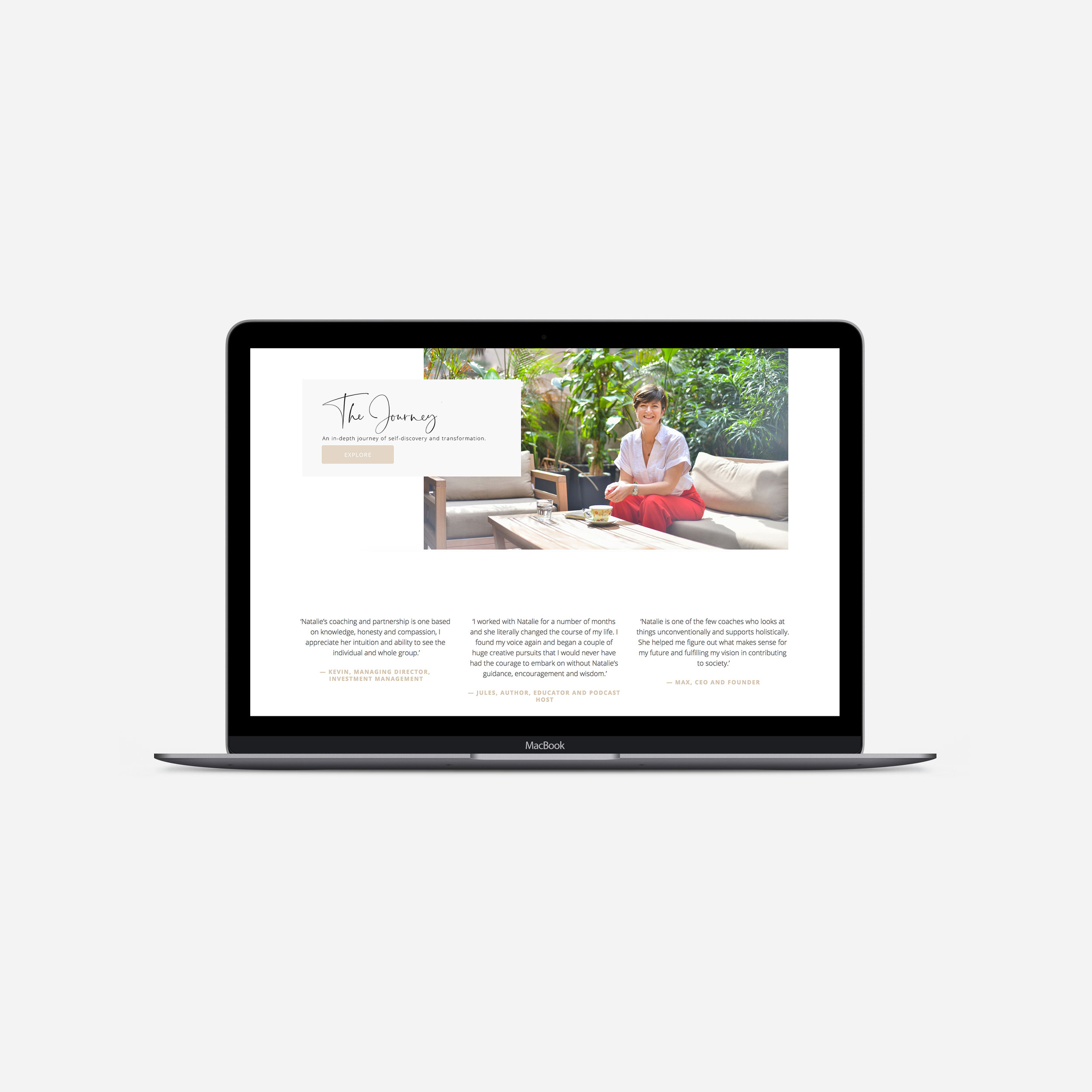 Natalie Goni  WEBSITE | BRANDING | COLLATERAL