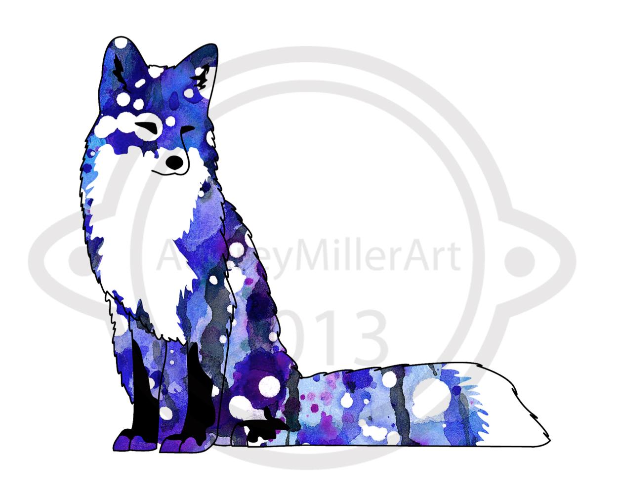 Blue Galaxy Fox