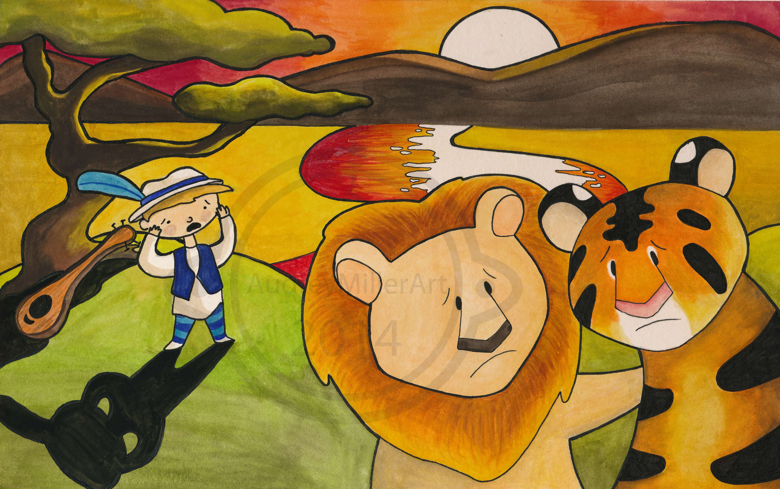 sample illustration - Minstrel of Shambala