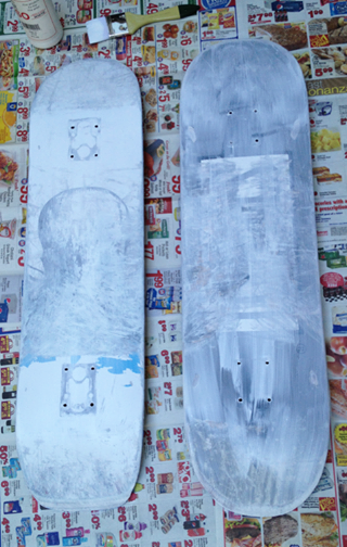 Beginning prep work with gesso and sanding