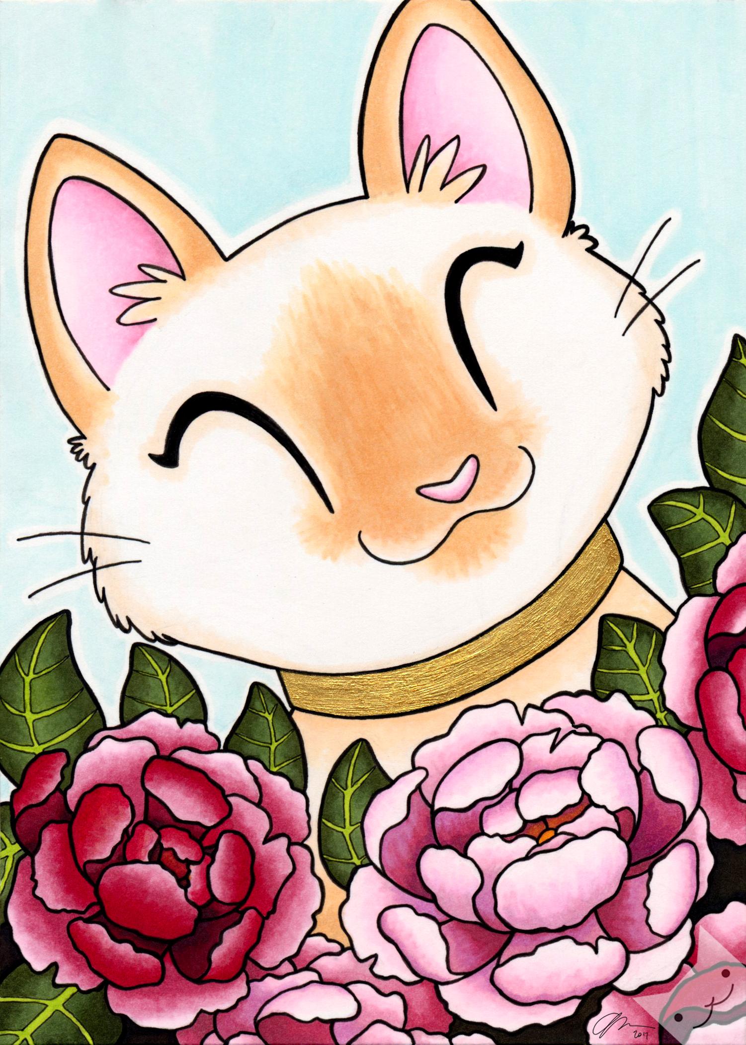 Gold Peony Kitty.jpg