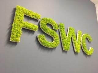 Reindeer moss bespoke lettering Fresh Start Women's Centre Dunganon