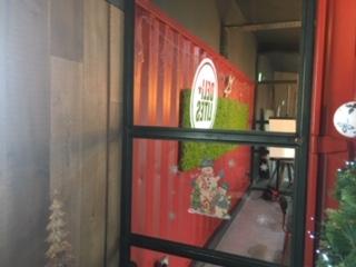 Reindeer moss panels Deli lites head office Newry