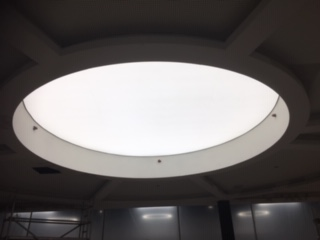 Circular Translucent Stretch Fabric Shannon Airport
